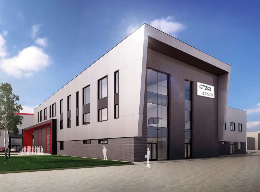 Artist's impression of completed Rainham building